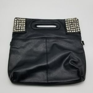 Black Hand bag with silver studs